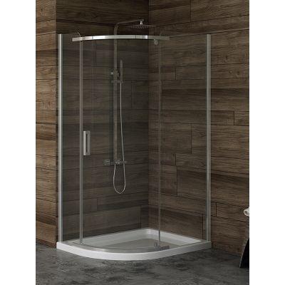 New Trendy New Komfort kabina prysznicowa 100x80 cm półokrągła asymetryczna szkło przezroczyste K-0439