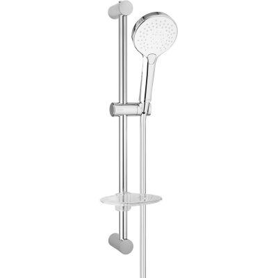 Oltens Driva EasyClick (S) Alling 60 zestaw prysznicowy z mydelniczką chrom/biały 36004110