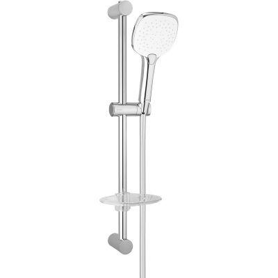 Oltens Driva EasyClick (S) Alling 60 zestaw prysznicowy z mydelniczką chrom/biały 36005110