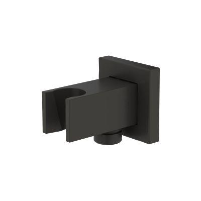 Oltens Hvita (S) przyłącze kątowe z uchwytem kwadratowe czarny mat 39303300