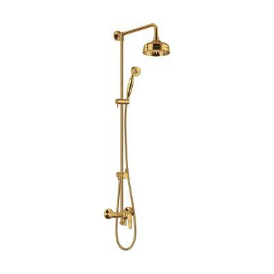 Omnires Art Deco zestaw prysznicowy ścienny złoty AD5144ZŁ