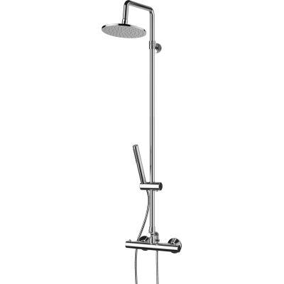 Omnires Mini zestaw prysznicowy ścienny termostatyczny z deszczownicą chrom MI1544-X/OCR