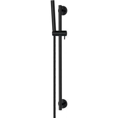 Omnires Microphone zestaw prysznicowy ścienny czarny MICROPHONE-SBL