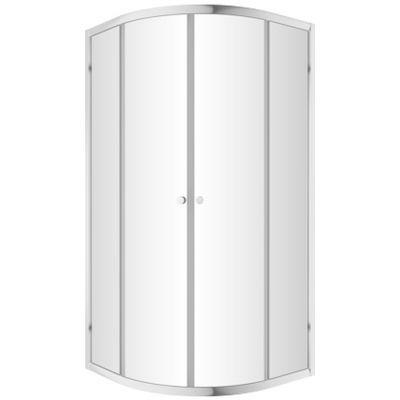 Omnires Bronx kabina prysznicowa 80x80 cm półokrągła szkło przezroczyste S203080CRTR
