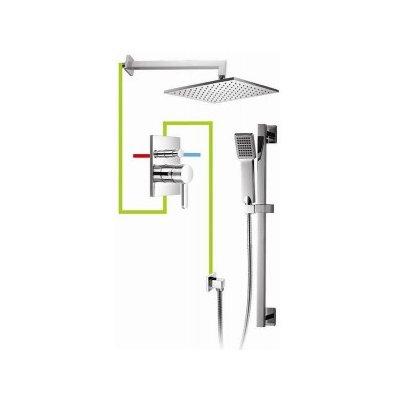 Omnires Darling system podtynkowy łazienkowy kompletny chrom SYSDA12A
