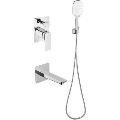 Omnires Parma zestaw prysznicowy podtynkowy z wylewką chrom SYSPMW01CR