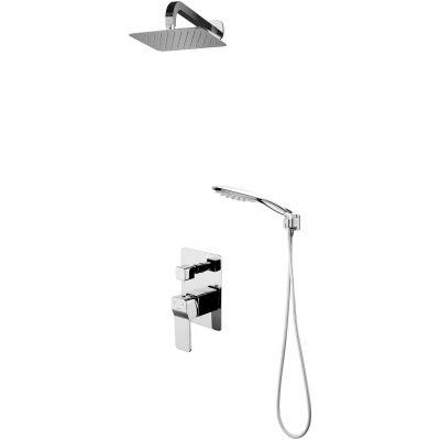 Omnires Sys zestaw prysznicowy podtynkowy z deszczownicą chrom SYSSL10CR