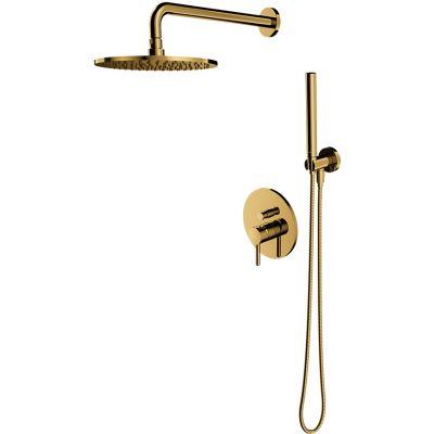 Omnires Y zestaw prysznicowy podtynkowy z deszczownicą złoty SYSY19ZŁ