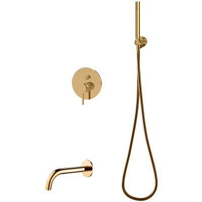 Omnires Y zestaw wannowo-prysznicowy podtynkowy złoty SYSYW01GL