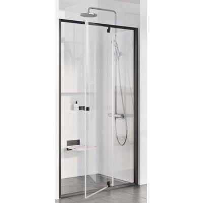 Ravak Pivot PDOP2-110 drzwi prysznicowe 110 cm czarny/transparent 03GD0300Z1