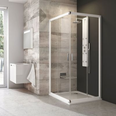 Ravak Blix BLRV2-80 kabina prysznicowa 80 cm kwadratowa satyna/transparent 1LV40U00Z1