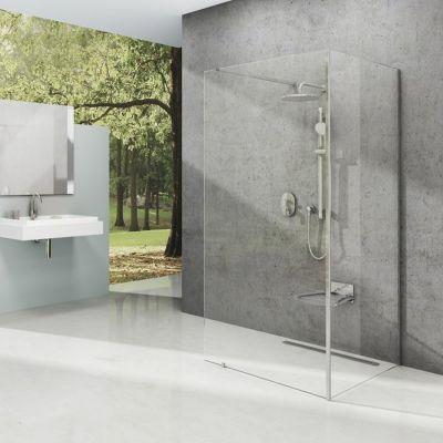 Ravak Corner ścianka prysznicowa Walk-In 110x80 cm polerowane aluminium/transparent GW1CD4C00Z1