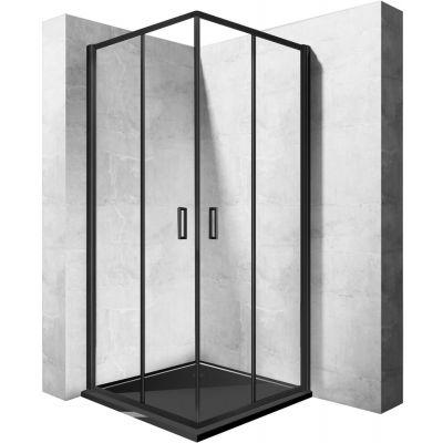 Rea Punto Black kabina prysznicowa 80 cm kwadratowa szkło przezroczyste REA-K4800