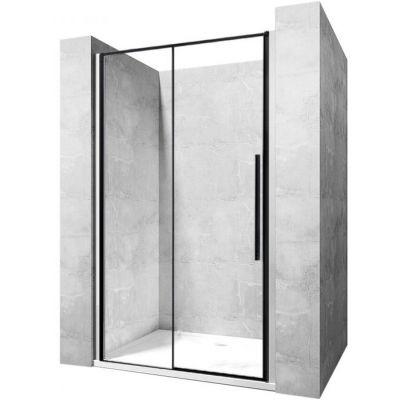Rea Solar Black drzwi prysznicowe 120 cm wnękowe szkło przezroczyste REA-K6312