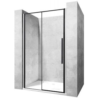 Rea Solar Black drzwi prysznicowe 140 cm wnękowe szkło przezroczyste REA-K6359