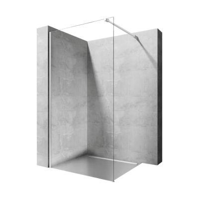 Rea Aero Walk-In ścianka prysznicowa 90 cm wolnostojąca chrom/szkło przezroczyste REA-K7553