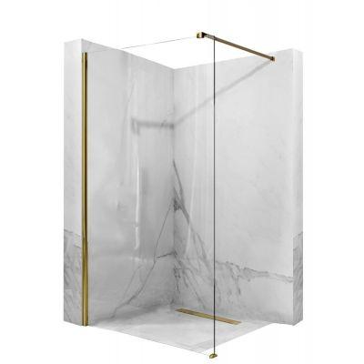 Rea Aero Gold Walk-In ścianka prysznicowa 100 cm złoty/szkło przezroczyste REA-K8440