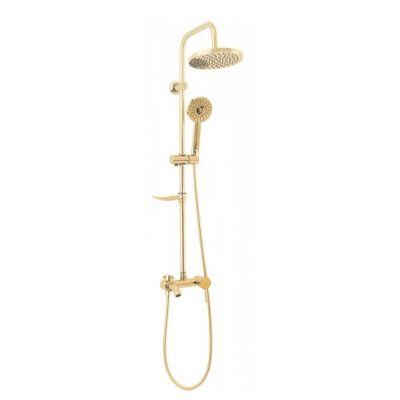 Rea Luis Gold zestaw wannowo-prysznicowy ścienny złoty REA-P7006