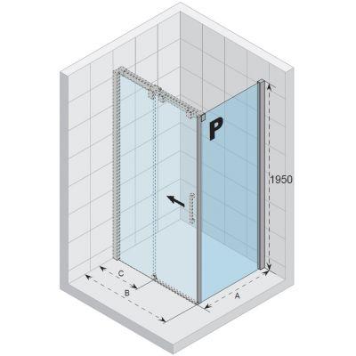 Riho Ocean ścianka prysznicowa 80 cm prawa szkło czyste GU0300102