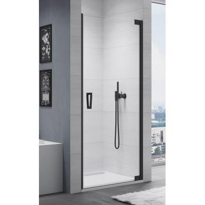 SanSwiss Cadura drzwi prysznicowe 100 cm prawe czarny mat/szkło przezroczyste CA1CD1000607