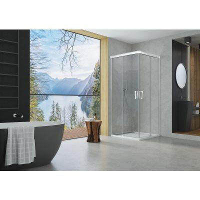 SanSwiss Cadura drzwi prysznicowe 90 cm prawe szkło przezroczyste CAE2D0905007