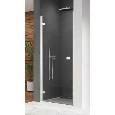 SanSwiss Escura drzwi prysznicowe 80 cm lewe srebrny połysk/szkło przezroczyste ES1CG0805007