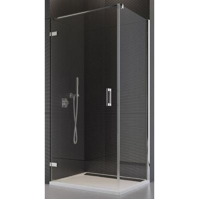 SanSwiss Pur ścianka prysznicowa 100 cm boczna chrom/krople PUDT2P1001044