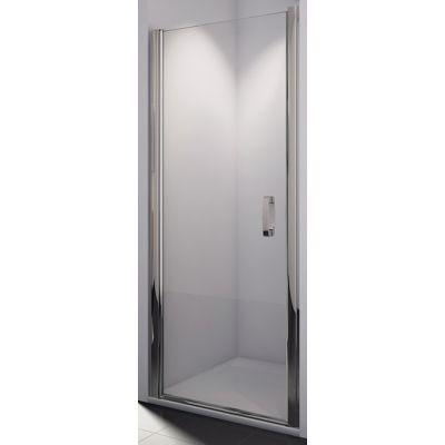 SanSwiss Swing-Line drzwi prysznicowe 75 cm srebrny mat/szkło pas satynowy SL107500151