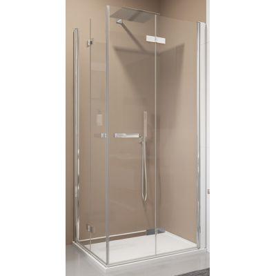 SanSwiss Swing-Line F drzwi prysznicowe 70 cm częściowe 1/2 prawe biel/szkło przezroczyste SLF2D07000407