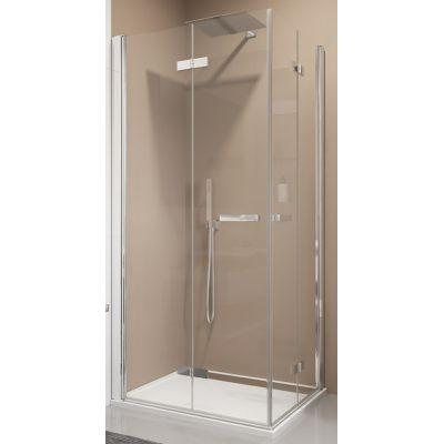 SanSwiss Swing-Line F drzwi prysznicowe 75 cm częściowe 1/2 lewe biel/szkło przezroczyste SLF2G07500407