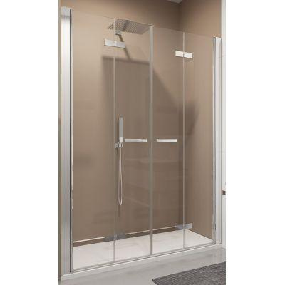 SanSwiss Swing-Line F drzwi prysznicowe 180 cm srebrny mat/szkło przezroczyste SLF218000107