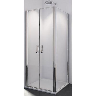 SanSwiss Swing-Line F ścianka prysznicowa 120 cm boczna biel/szkło przezroczyste SLT212000407