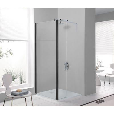 Sanplast Prestige III PR2/PRIII-90 ścianka prysznicowa 90 cm walk-in czarny mat/szkło przezroczyste 600-073-0980-59-401