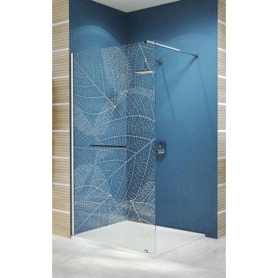 Sanplast Free Line II Walk-in ścianka prysznicowa 70 cm wolnostojąca P/FREEII-70 chrom/srebrny błyszczący/Sitodruk W19 600-261-0400-42-191