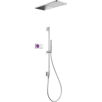 Tres Shower Technology zestaw prysznicowy z baterią podtynkową termostatyczną elektroniczną chrom/biały 092.865.82