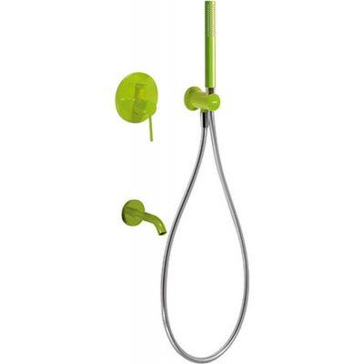 Tres Study Exclusive zestaw prysznicowy z baterią podtynkową zielony 262.180.03.TVE
