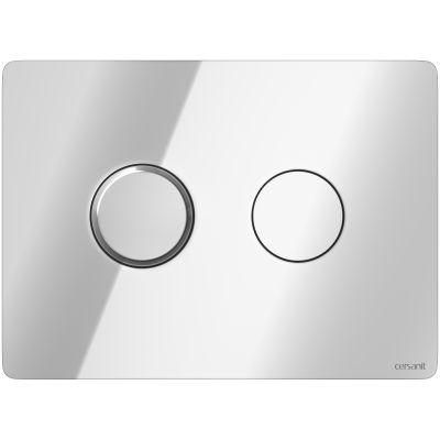 Cersanit Accento Circle przycisk spłukujący do WC pneumatyczny chrom błyszczący S97-056