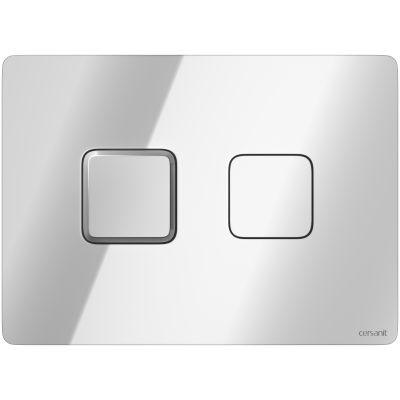 Cersanit Accento Square przycisk spłukujący do WC pneumatyczny chrom błyszczący S97-057