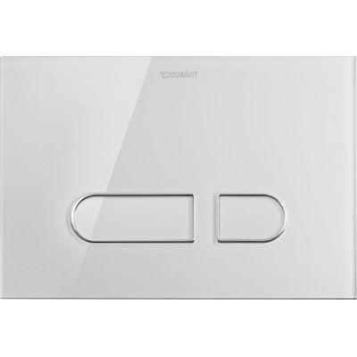 Duravit DuraSystem A1 przycisk spłukujący do WC szkło białe WD5002012000