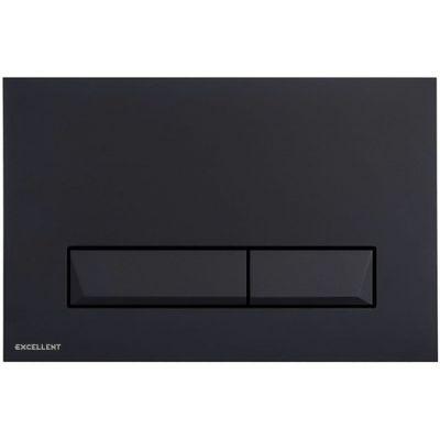 Excellent Platto przycisk spłukujący do WC czarny INEX.PL230.150.BL