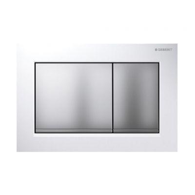 Geberit Omega30 przycisk spłukujący biały/ chrom matowy 115.080.KL.1