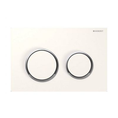 Geberit Omega20 przycisk spłukujący biały / chrom błyszczący 115.085.KJ.1