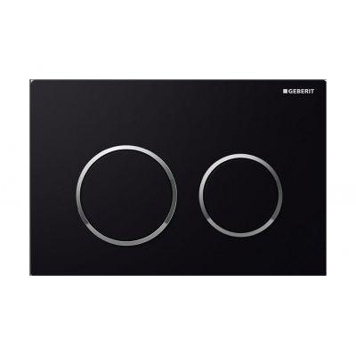 Geberit Omega20 przycisk spłukujący czarny / chrom błyszczący 115.085.KM.1