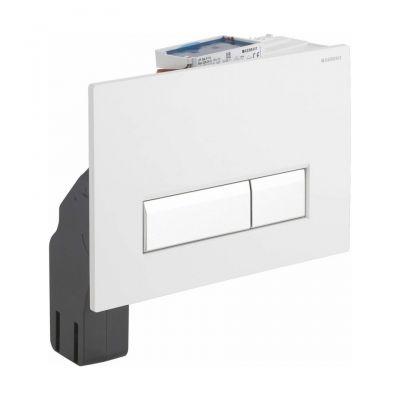 Geberit Sigma40 zestaw wykończeniowy z przyciskiem biały/szczotkowane aluminium do elementu montażowego WC z odciągiem 115.600.KQ.1