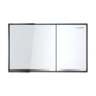 Geberit Sigma60 przycisk spłukujący szkło białe 115.640.SI.1