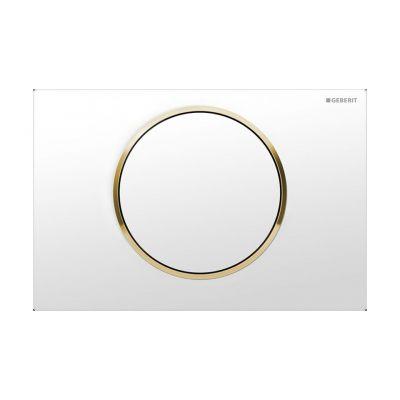 Geberit Sigma10 przycisk spłukujący przedni biały/złocony/biały 115.758.KK.5