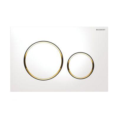 Geberit Sigma20 przycisk spłukujący biały/złocony/biały 115.882.KK.1