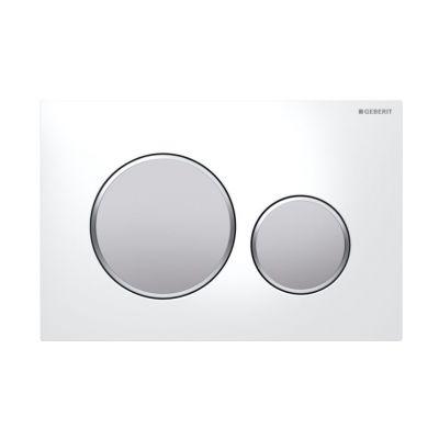 Geberit Sigma20 przycisk spłukujący biały/chrom matowy/chrom matowy 115.882.KL.1