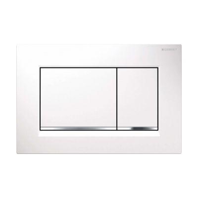 Geberit Sigma30 przycisk spłukujący biały/chrom błyszczący/biały 115.883.KJ.1