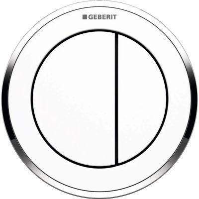 Geberit Typ01 przycisk spłukujący WC pneumatyczny biały/chrom błyszczący 116.056.KJ.1